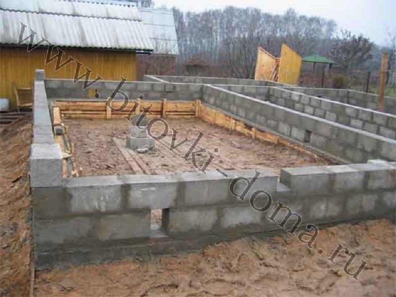 Фундамент из блоков 20х20х40 своими руками фото